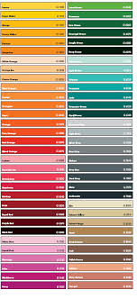 Colour Charts For Montana Gold Spray Cans Marker Pens