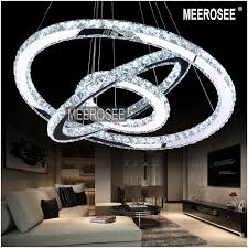 hot diamond ring led crystal chandelier light modern led lighting circles lamp 100 guarantee fast kitchen pendant light fixtures modern