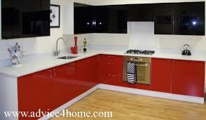 black and red kitchen design. red-white-black modular kitchen design black and red s