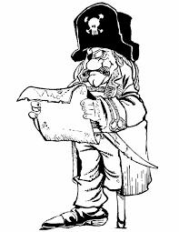 Kleurennu Piraat Bekijkt De Schatkaart Kleurplaten