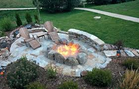 round patio with fire pit backyard and patio fire pit ideas large outdoor fire pits canada
