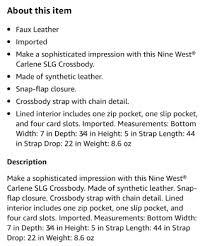 Nine West Carlene Cross Body Bag   Shopee Philippines
