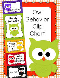 Owl Behavior Clip Chart Behavior Clip Chart Behavior Management Owls Behavior