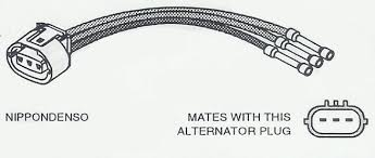 c1650 repair connector voltage regulator nippondenso denso c1650 repair connector voltage regulator nippondenso denso mitsubishi and hitachi alternators 3 pin oval plug