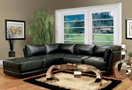living room with black furniture. Image Of: Leather Black Living Room Furniture With