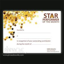 Star Of The Month Certificate Template 20 Star Student Of The Month Template Pictures And Ideas On Carver