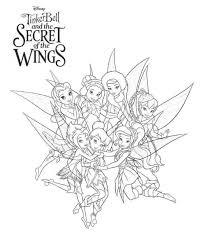 Kids N Fun Kleurplaat Tinkelbel Secret Of The Wings Tinkerbell