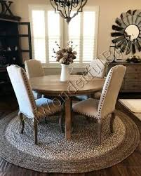 pottery barn border round jute rug sand 6 ft braid new authentic 99 00