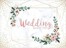 Wedding Planning Names Wedding Guest List Wedding Guest Tracker Wedding Guest Planner