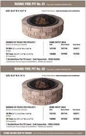 Pavestone RumbleStone 385 In X 14 In Square Concrete Fire Pit Home Depot Fire Pit