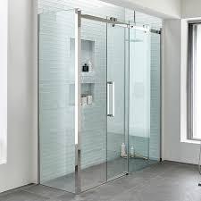 trinity premium 10mm 1400 x 900 left hand frameless sliding door enclosure