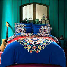 bohemian comforters bed sheets bohemian bedding set king double size sanded cotton flower printed duvet winter