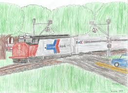amtrak train drawing.  Amtrak Amtrak Train And Wigwag Crossing 2 By WillM3luvTrains  With Drawing M