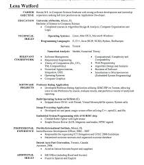 Objective In Resume For Software Engineer Experienced Resume Examples Software Engineer Resume Formatting Software