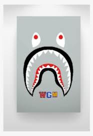 bape shark png freeuse bape shark face logo