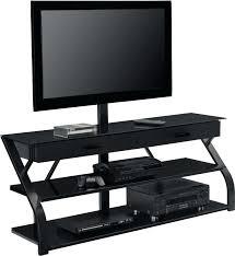 Corner Tv Mounts With Shelves Beauteous Corner Tv Bracket F Black Polished Iron Ceiling Mount Avf Corner Tv