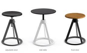 barber  osgerby piton™ adjustable stool  hivemoderncom
