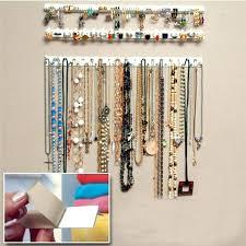 wall mounted jewelry storage wall jewelry organizer new 9 in 1 adhesive paste wall hanging storage