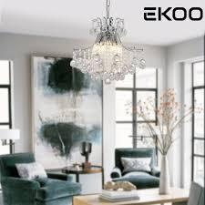 Beste Kopen Ekoo Kristal Woonkamer Lamp Lustres De Cristal Hanglamp