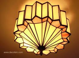 art deco lamp. Art Deco Ceiling Chandelier From Hayden Orpheum Lamp