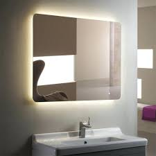 lighted bathroom vanity mirrors cabinets horizontal led silvered mirror  with full size of touch button large