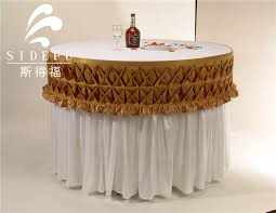 hotel round decorative banquet party luau satin table skirt information