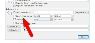 Email Deliver How To Schedule Or Delay Sending Email Messages In Outlook