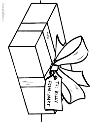 Small Picture Christmas Presents Coloring Pages