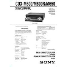 cdx for ioffer sony cdx m600 cdx m650 technical manual by ma