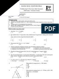 Biasanya bapak dan ibu guru akan disibukkan dengan membuat soal untuk (pat) penilaian akhir tahun ujian akhir. Soal Uts Matematika Kelas 7 Semester 2 Dan Kunci Jawaban Guru Ilmu Sosial