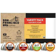 Pods offer convenient, fresh brewed coffee one cup at a time. Amazon Com Sf Bay Coffee Onecup Variety Pack 80 Ct Compostable Coffee Pods K Cup Compatible Including Keurig 2 0 Packaging May Vary Grocery Gourmet Food