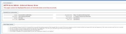 IIS: Getting a 500 Server Error when trying to configure IIS on ...