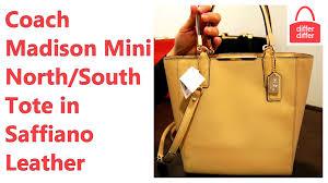 Coach Madison Mini North South Tote in Saffiano Leather 29001