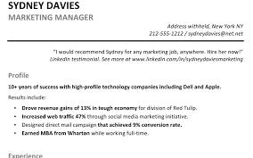Resume Profile Summaryles Templates Impressive Sample Good Titles