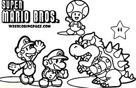 Super Mario Coloring Page Trustbanksurinamecom