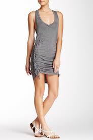 Riller Fount Tatum Asymmetrical Seam Fringe Mini Dress Nordstrom Rack