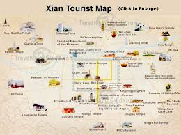 xian travel attractions tours transportation maps attraction map