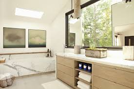 Modern Bathroom Vanity Lights Beauteous KarynRMilletMG48Rjpg Great Use Of Light And Move Tub Away