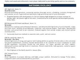 Bartender Resume Format Best Resume Templates Word Free Download ...