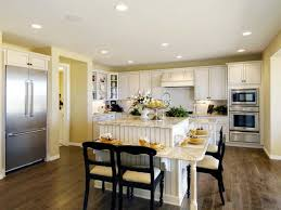 white brown colors kitchen breakfast. Kitchen Stained Timber Seat Rustic Brown Rug Cabinet Light Fixtures Stainless Steel Overhead Racks Recessed White Colors Breakfast L