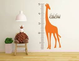 Giraffe Wall Decal Growth Chart Kids Growth Chart Ruler Growth Chart Giraffe Wall Decal Playroom Wall Decal Height Chart Measurement Chart Nursery Wall Decal Db204
