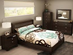 Modern Bedroom Furniture Small Bedroom Modern Tropical Design Small Room With Light Cream Wall And Wooden Dark Brown Furniture E