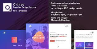 Creative Design Templates O Three Creative Design Agency Psd Template By Safder Jaffri