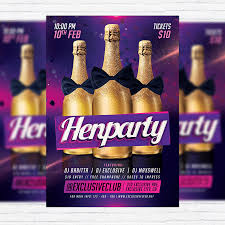 henparty premium flyer template facebook cover