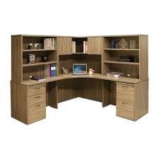 corner office desk wood. Modren Office Corner Office Desk With Hutch Beautiful Wood Grain Hutches  And Pedestals 77 5 In