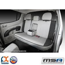 msa seat covers for nissan patrol sec row 50 50 split bench armrest cover gu43