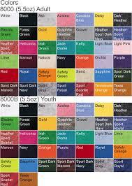 Gildan 50 50 Size Chart Gildan 50 50 Polyester Cotton T Shirt Goodwin Glass Graphics