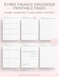 Budget Planners Free Emmas Studyblr Free Finance And Budget Planner Printables