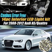 Audi A5 Interior Led Lights Amazon Com 14pc Canbus Error Free Super White 6000k Car