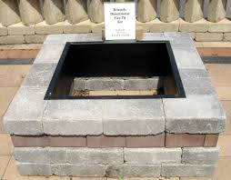 impressive concrete block and brick s for best unilock fireplace ideas furnishing with cool dark steel